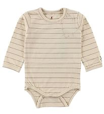 Small Rags Bodysuit L/S - Ivory Striped