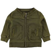 Small Rags Zip Thru Hoodie - Army Green
