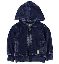 Small Rags Zip Thru Hoodie - Dark Blue Denim
