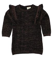 En Fant Dress - Knitted - Black w. Glitter