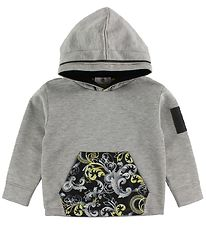 Young Versace Hoodie - Grey Melange w. Yellow Pattern
