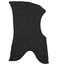 Mikk-Line Balaclava - Pointy - Wool/Cotton - Charcoal