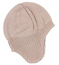 Nordic Label Hat - Wool/Cotton - Rose Powder