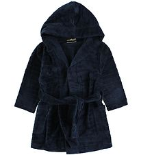 Nordic Label Bathrobe - Navy