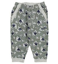 Noa Noa Miniature Sweatpants - Grey Melange w. Print
