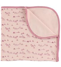 Pippi Blanket - 70x70 - Pink w. Tents
