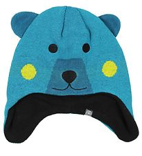 Color Kids Hat - Knitted - Konja - Turquoise Bear