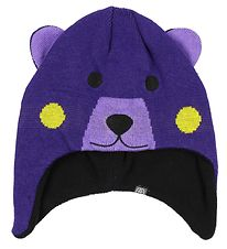 Color Kids Hat - Knitted - Konja - Purple Bear