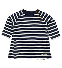 Papfar Dress - Sweat - Navy/Ivory Striped