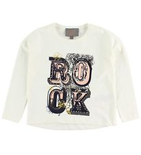 Creamie Blouse - Ivory w. Print