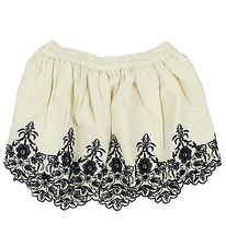 Noa Noa Miniature Skirt - Ivory w. Flowers