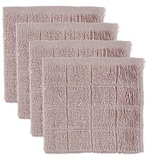 Pippi Washcloths - 4-Pack - Dusty Rose