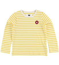 Wood Wood Kids Blouse - White/Yellow Striped
