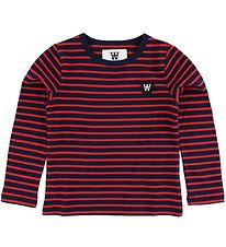 Wood Wood Kids Blouse - Navy/Red Striped