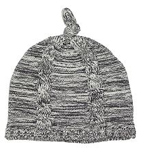 Minymo Hat - Knitted - White/Charcoal