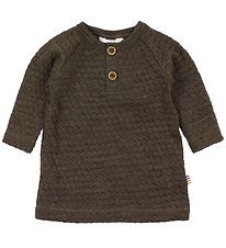 Joha Dress - Wool - Knitted - Brown Pattern