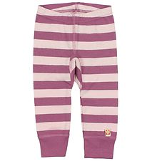 Katvig Classic Leggings - Light Rose/Purple Striped