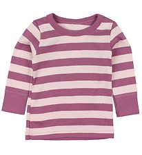 Katvig Classic Blouse - Light Rose/Purple Striped