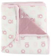 Katvig Blanket - 98x98 - Ivory/Rose w. Apples