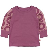 Katvig Classic Blouse - Purple/Rose w. Purple Apples