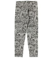 Soft Gallery Leggings - Paula - Grey w. Owls