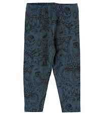Soft Gallery Leggings - Paula - Petrol w. Owls