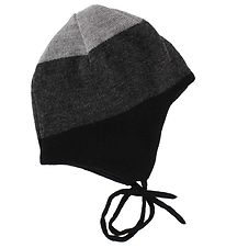 Reima Baby Hat - Wool/Polyester - Auva - Black/Charcoal/Grey Mel