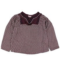 Noa Noa Miniature Blouse - Bordeaux w. Dots