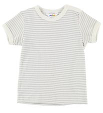 Joha T-shirt - Grey/Ivory Striped