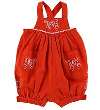 Stella McCartney Kids Summer Romper - Red w. Bows
