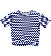 Atracktion by Alba T-shirt - Blue/White Pattern