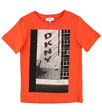 DKNY T-shirt - Orange w. Photo Print