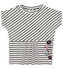 Small Rags T-shirt - White/Grey Striped
