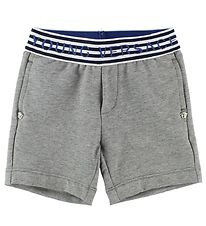 Young Versace Shorts - Sweat - Grey Melange/Stripes