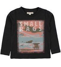 Small Rags Blouse - Charcoal w. Print