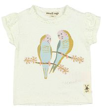 Small Rags T-shirt - Ivory w. Dots/Birds