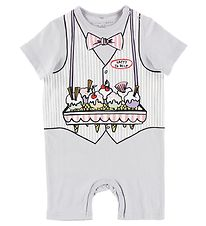 Stella McCartney Kids Summer Romper - Light Grey w. Ice Cream Se