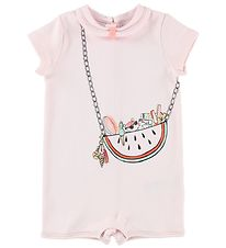 Little Marc Jacobs Summer Romper - Pink w. Purse Print