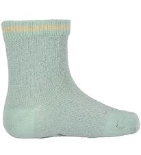 Small Rags Socks - Grace - Mint w. Glitter