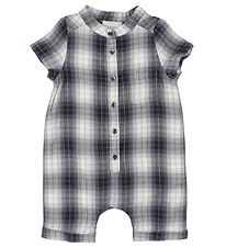 Fixoni Summer Romper - Grey Check