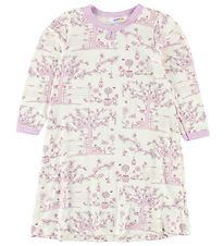 Joha Nightdress - Bamboo - Ivory/Rose w. Flowers