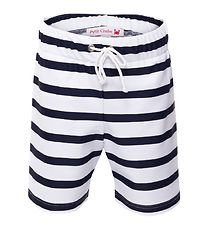 Petit Crabe Swim Trunks - Alex - UV50 - White/Navy Striped