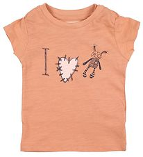 Small Rags T-shirt - Grace - Peach w. Glitter