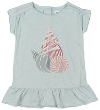 Small Rags Dress - Grace - Light Blue w. Print/Glitter