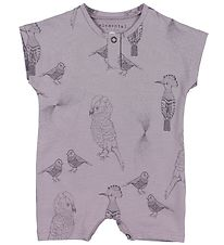 Fixoni Summer Romper - Elemental - Purple w. Print