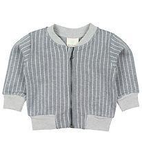 En Fant Zip Cardigan - Gate - Grey Pattern