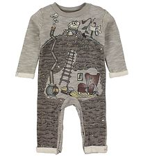 En Fant Coverall - Gate - Brown Melange w. Print