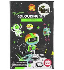 Tiger Tribe Colouring Set - Neon - Outer Space