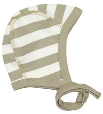 Katvig Baby Hat - Sand/Ivory Striped
