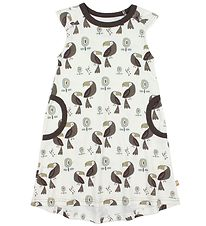 Katvig Dress - Ivory/Brown w. Toucans